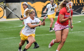 Lacrosse links together back-to-back wins