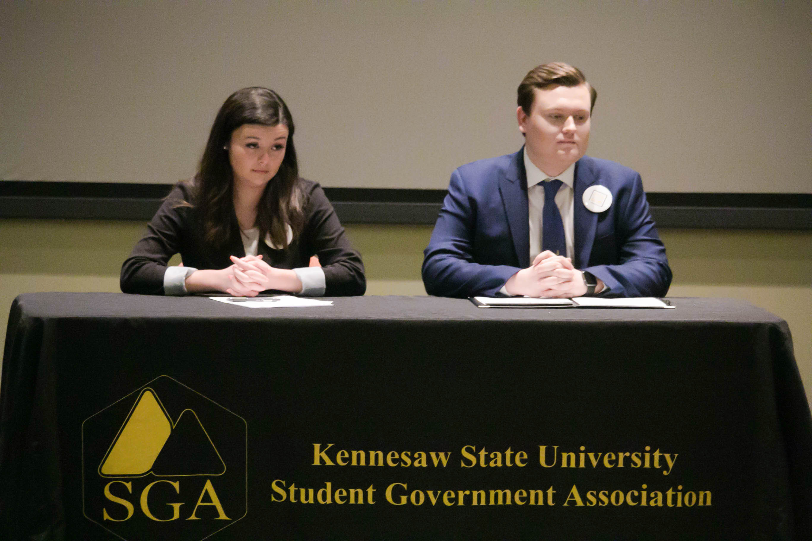SGA holds first debate for presidential candidates