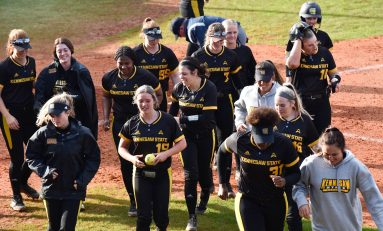 Softball continues to improve, wins three of four over weekend