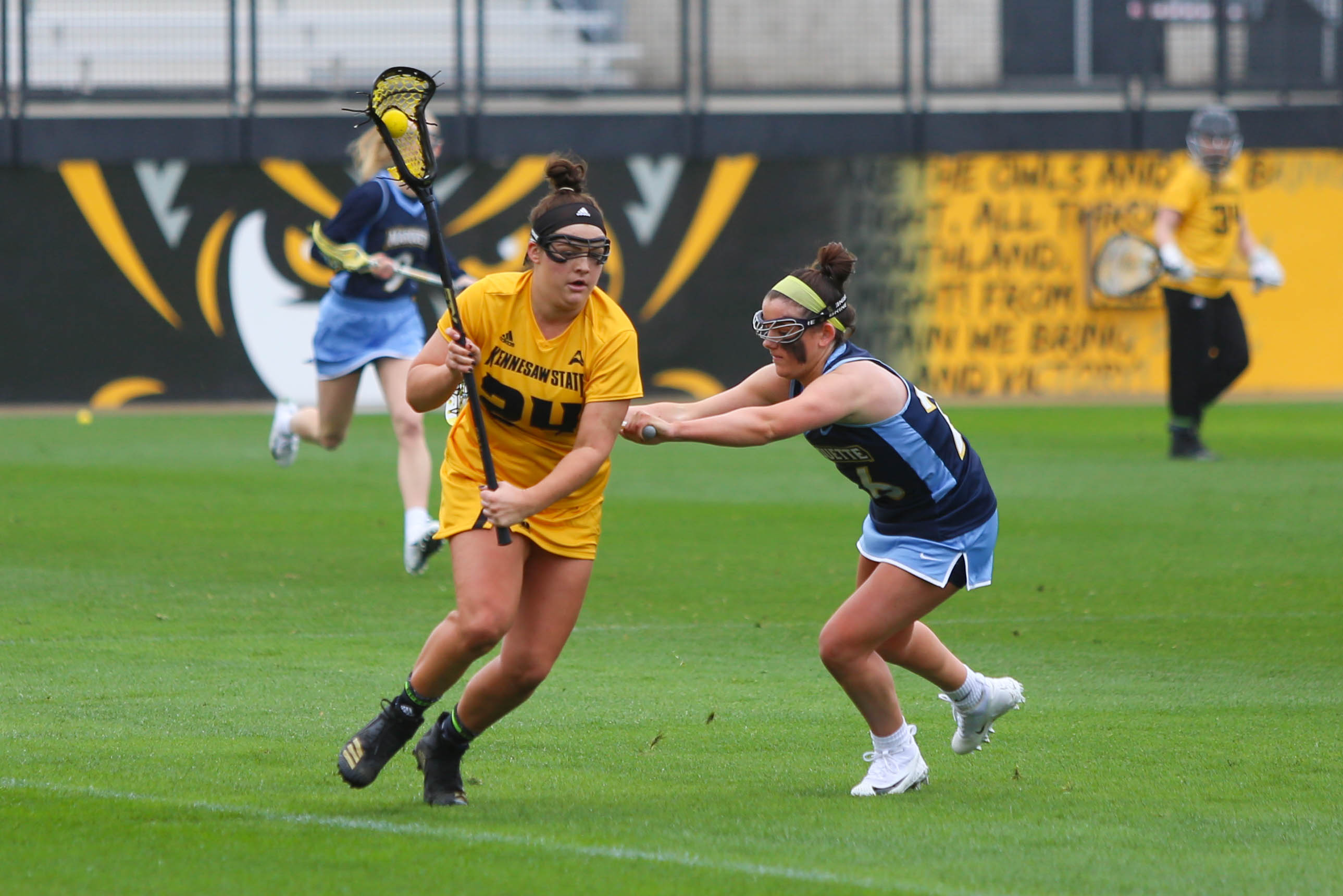 LAX wins first home game over Bonnies before falling short to New Hampshire