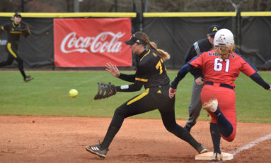 Softball rallies twice to douse Flames before falling in third game