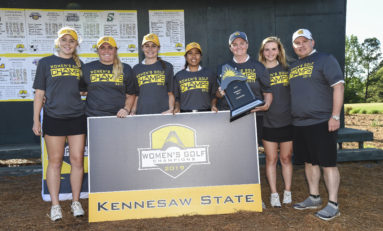 Second round success leads women's golf to ASUN title, team earns trip to NCAA regionals