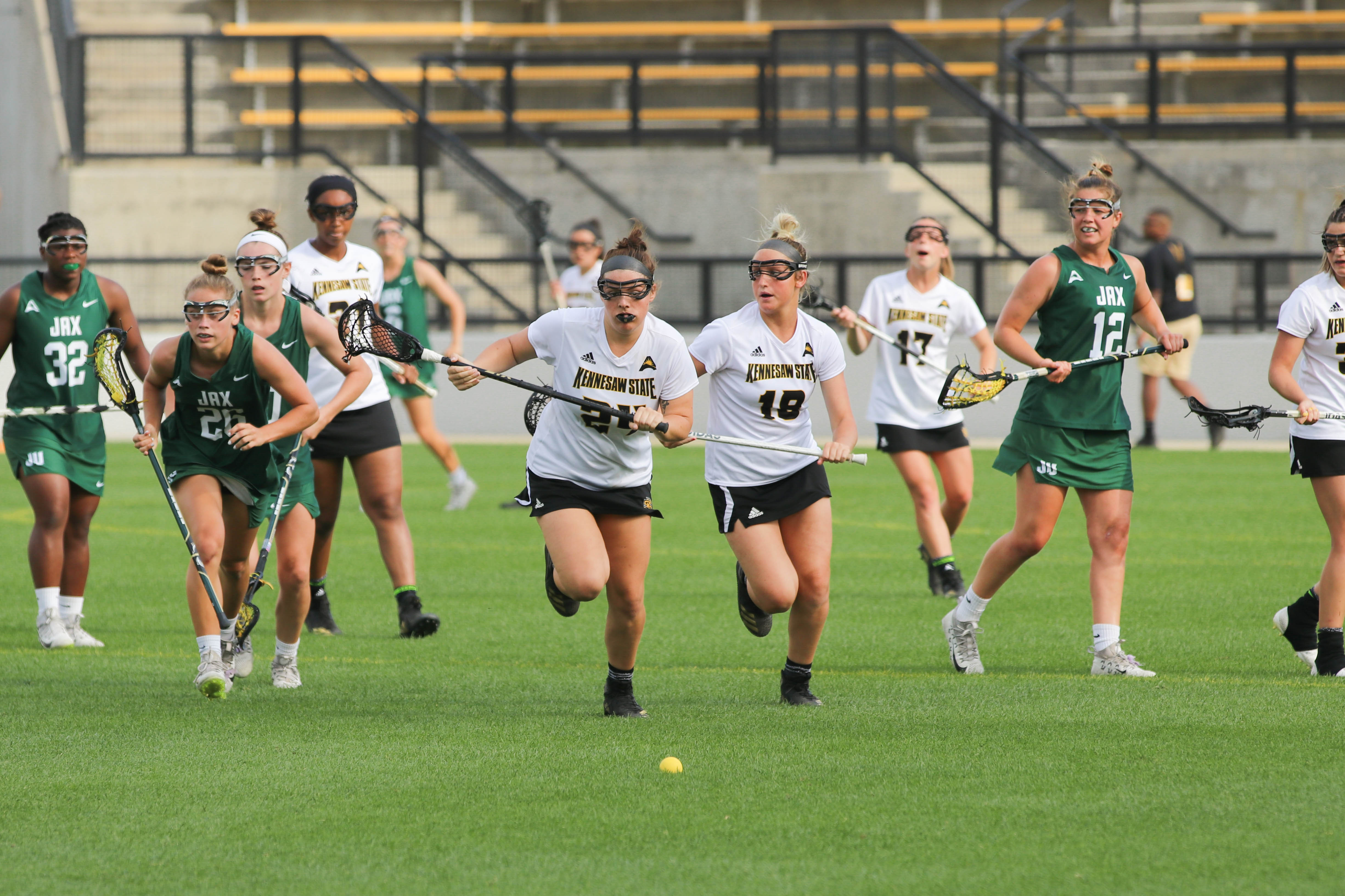 Squires scores five as LAX tops Hatters on Senior Day