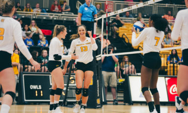 Chastang leads Owls as volleyball wins home opener over Georgia Tech
