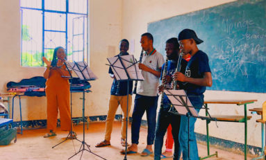 Student spreads awareness, helps teach music in Tanzania