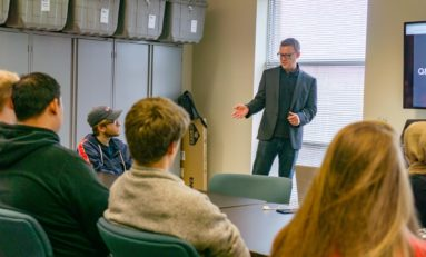 Information Systems professional shares seasoned wisdom with students
