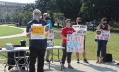 Union members, student groups protest for mask and vaccine mandate