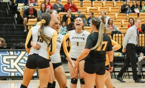 Owls sweep Flames, come up short against Eagles on Senior Day