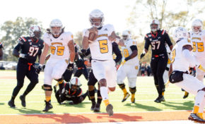 Bryant scores five touchdowns, leads football back to win column